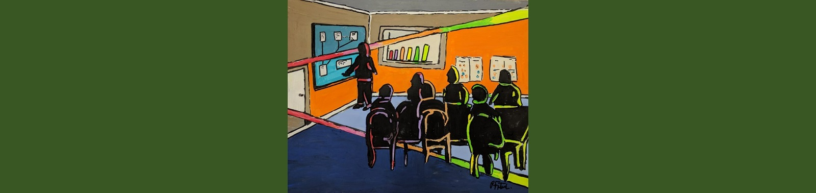 Painting of a meeting
